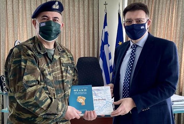 Με τον νέο Διοικητή της XVI Μεραρχίας συναντήθηκε ο Αντιπεριφερειάρχης Έβρου