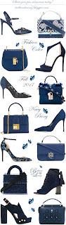 Brilliant Luxury ♦ Fashion Color Fall 2017 ~ navy peony