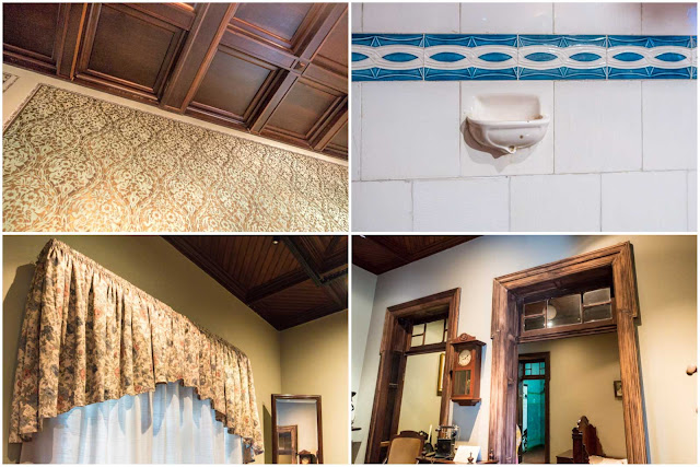 O interior do Palacete Garmatter, detalhes internos