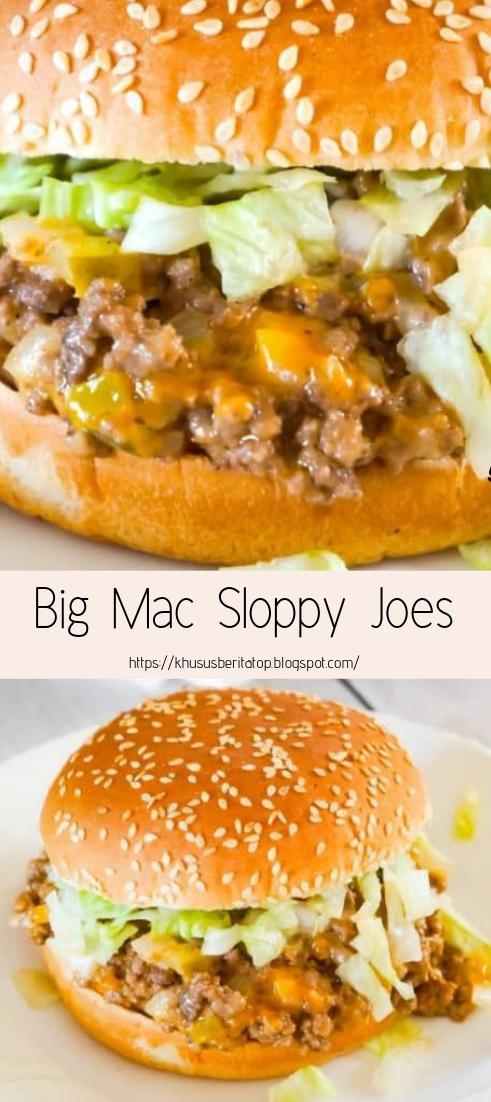 Big Mac Sloppy Joes #dinnerrecipe #food #amazingrecipe