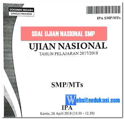 Soal UN IPA SMP/MTs Tahun 2019