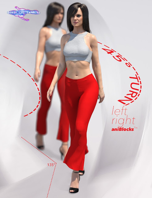 Quick Turn Walk Cycle Add On for Genesis 8 Female