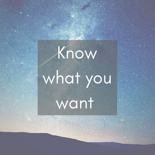 Know what you want from a Career change