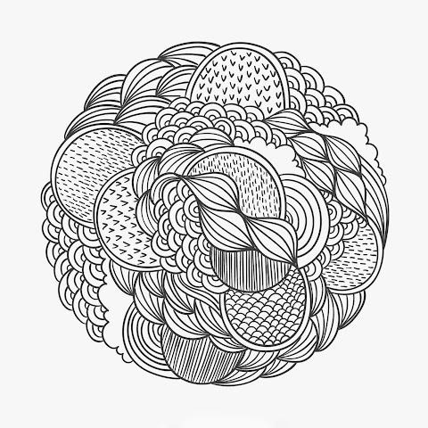 Hand Drawn Patterned Circle