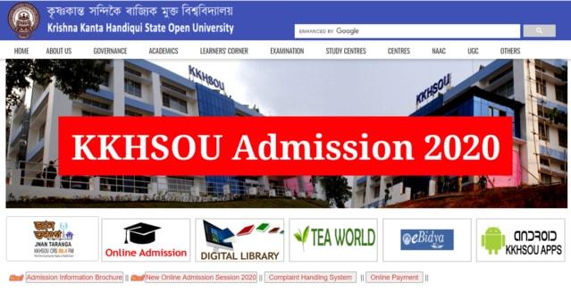 KKHSOU Admission 2020 - 2021: Eligibility, Apply Online