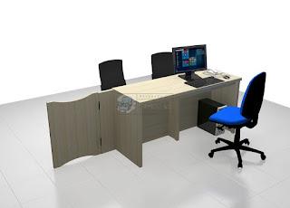 Meja Pendaftaran Sekolah Meja Front Office