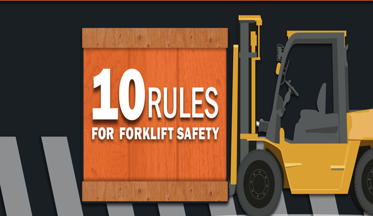 10 Forklift Safety Rules #infographic