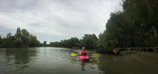 Cu caiacul prin Delta Dunarii, Vylkove, Ucraina