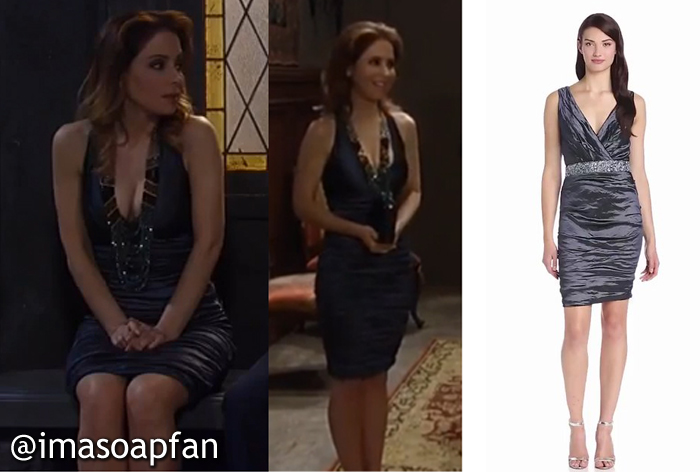 Olivia Falconeri, Lisa LoCicero, Ruched Metallic Dress, General Hospital, GH