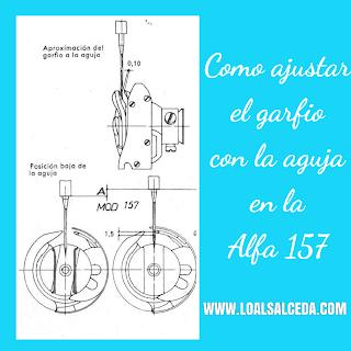 Ajuste de Garfio y aguja en la maquina de coser Alfa 157