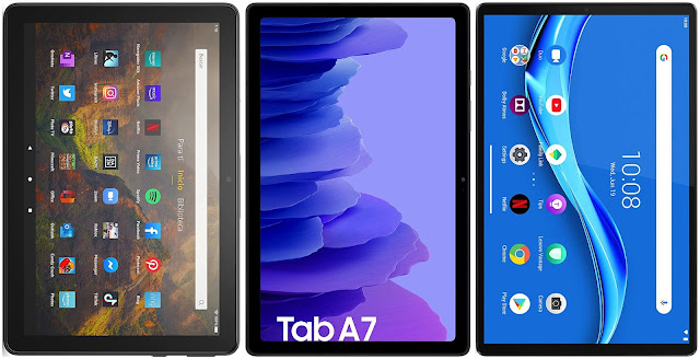 Amazon Fire HD 10 (2021) vs Samsung Galaxy Tab A7 10.4 (2020) vs Lenovo Smart Tab M10 FHD Plus