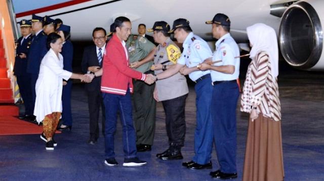 Presiden Jokowi Sudah Tiba di Indonesia Usai Lawatan ke Malaysia dan Singapura