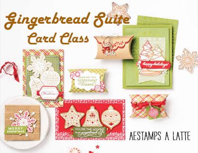 Gingerbread & Peppermint Suite Card Class