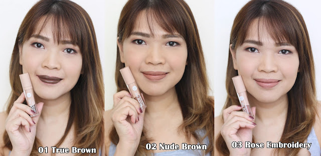a photo of askmewhats nikki tiu wearing Cathy Doll Nude Me Liquid Lip Matte Review (ALL 9 Shades)