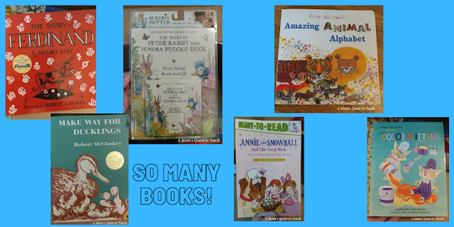 children's books part of My Father's World kindergarten deluxe kit