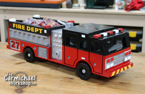 Wooden Toy Fire Engine by The Carmichael Workshop