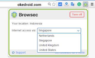 Pilih Negara Akses Chrome