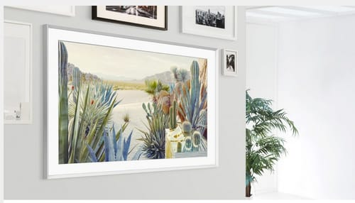 The Frame TV rotates between portrait and landscape modes