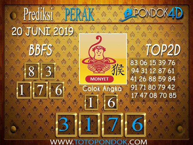 Prediksi Togel PERAK PONDOK4D 20 JUNI 2019