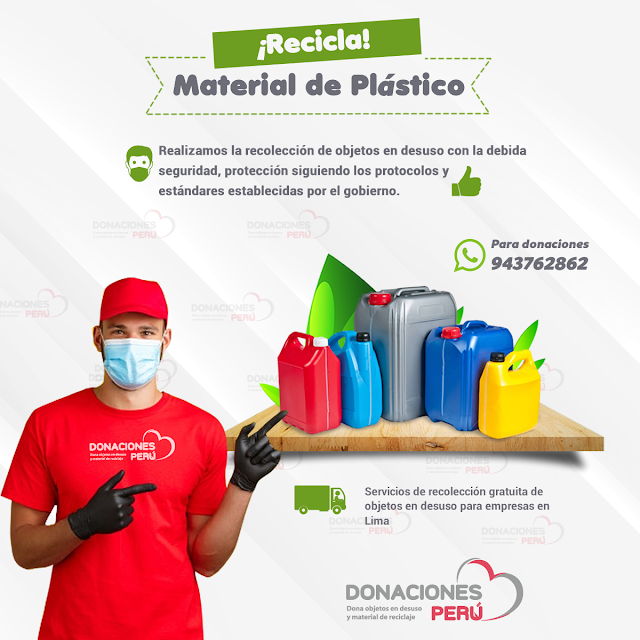 Recicla material de plástico en desuso