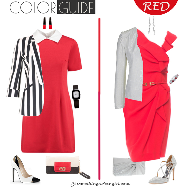 Chic red dresses for Cool Winter seasonal color women by 30somethingurbangirl.com