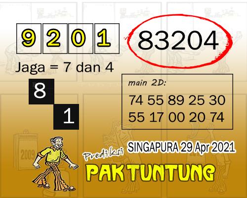 Syair SGP Kamis 29 April 2021 -