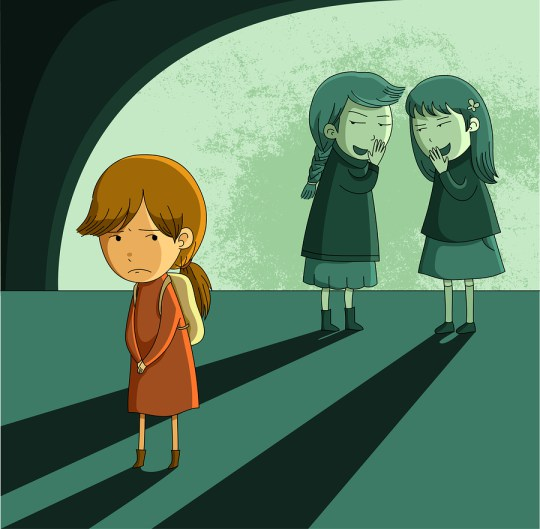 Girl on her own being bullied