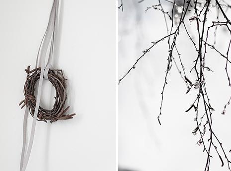 Natural Winter - natürliche Dekoideen für den Winter - Kränze aus Birkenzweigen