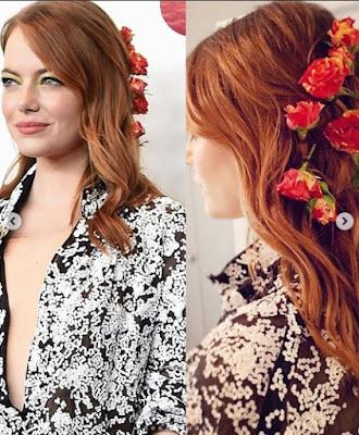 Hoje o blog vai te inspirar com penteados com flores,  são penteados simples  lindos dando um toque romântico, pode ser com cabelo preso, solto, cabelos com flores sempre fazem a cabeças das mulheres. As flores realçar o penteado dando um charme, agora se inspire em alguns penteados com flores.