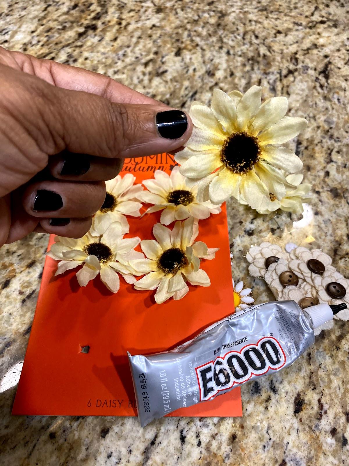 Making earrings at home using E-6000 glue