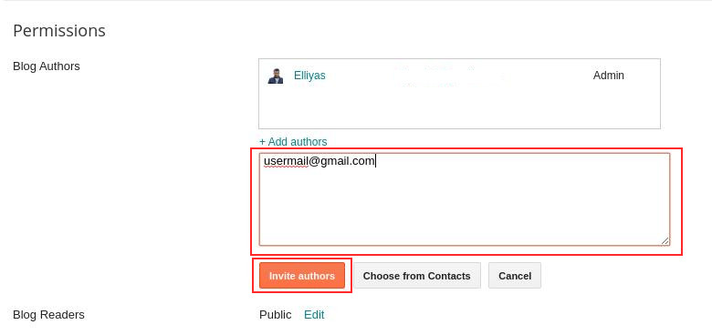 Insert Gmail to Add Author in Blogger