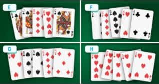 Which of these is the strongest hand?