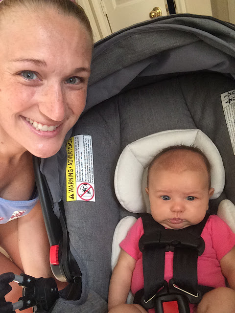 Using a jogging stroller to get back to running postpartum is a great way to be active with your baby.