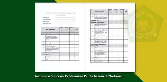 Instrumen Supervisi Pelaksanaan Pembelajaran di Madrasah
