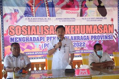 Pjs. Bupati Pesisir Barat Buka Sosialisasi Kehumasan Menghadapi Porprov IX Lampung