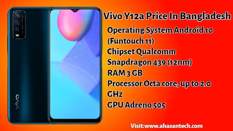 Vivo Y12a Price In Bangladesh