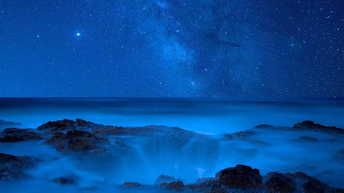 Plano de Fundo Noite Estrelado Cachoeira