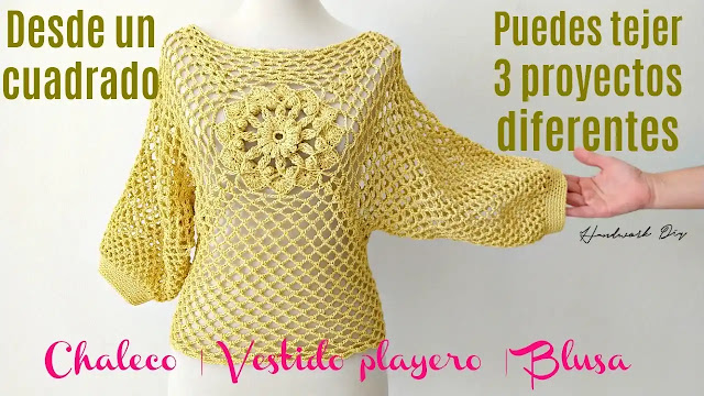 Chaleco, Vestido de Playa y Blusa - 3 Proyectos en Uno