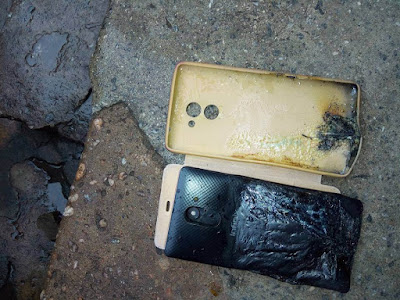 Infinix Hot 4 Explodes in a Lady's Pocket, Causes Burns on Her Leg (Photos)