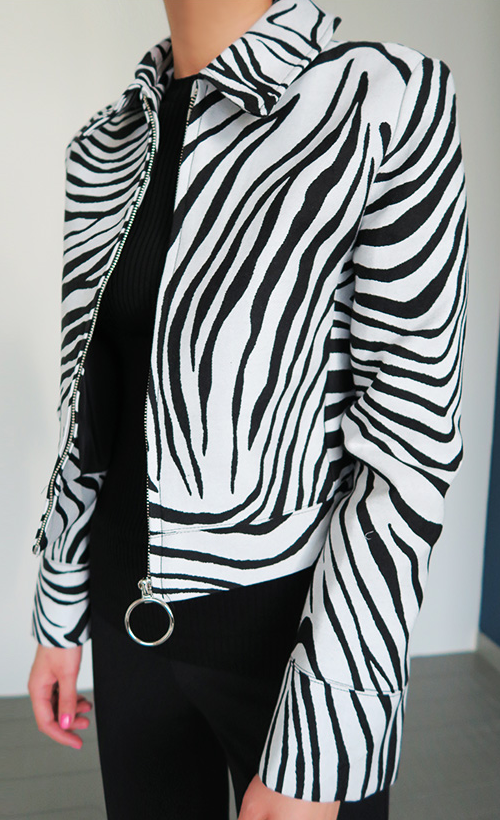 Zebra Patterned Jacket