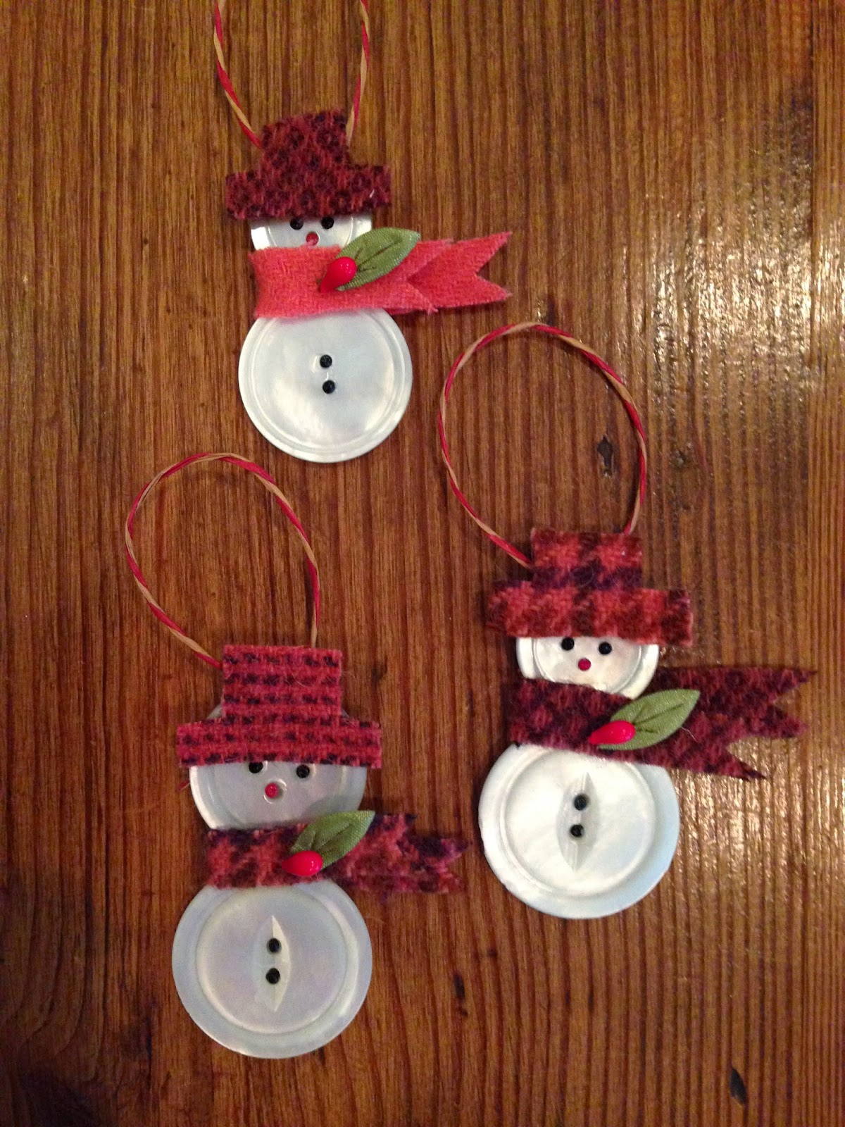 Button snowmen a tutorial knitionary for Button crafts for adults