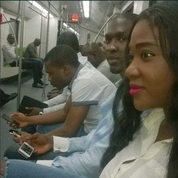 Photos: Mercy Johnson & Daughter Go On Train Ride In
