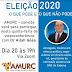 Amurc promove live sobre a legislação eleitoral de 2020