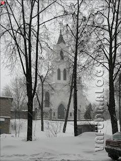 Минск. Костел Святого Роха в циклон Хавер