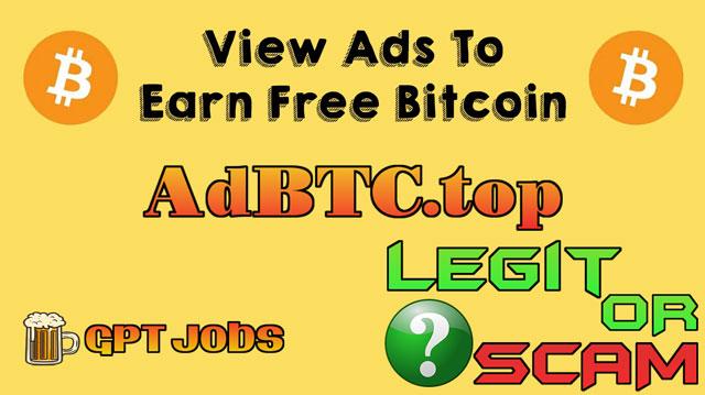 earn free bitcoin with AdBTC.top