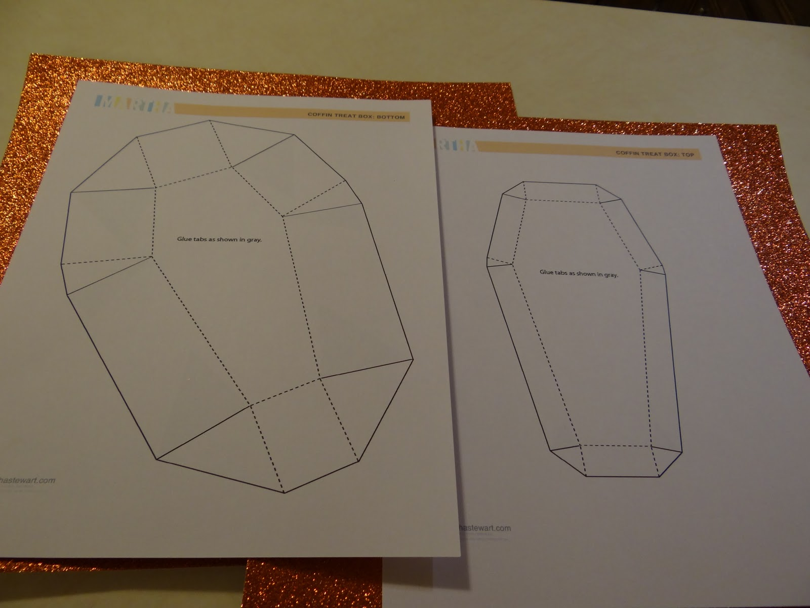 Boy Was I Lucky Because Stumbled Upon Martha Stewarts Coffin Template For An Invitation And It Worked Out Perfectly