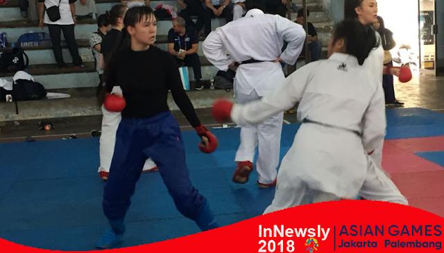 Asian Games Indonesia - Tim Karate Kazakhstan Latih Tanding dengan Inkanas