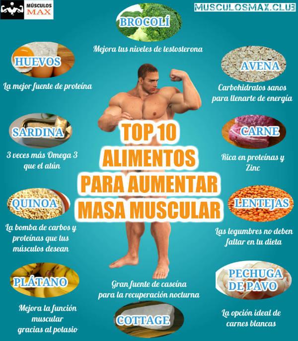 los mejores alimentos con proteinas para ganar masa muscular