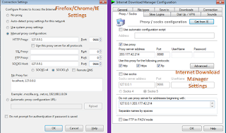 ultrasurf proxy settings, IDM, chrome, firefox, IE