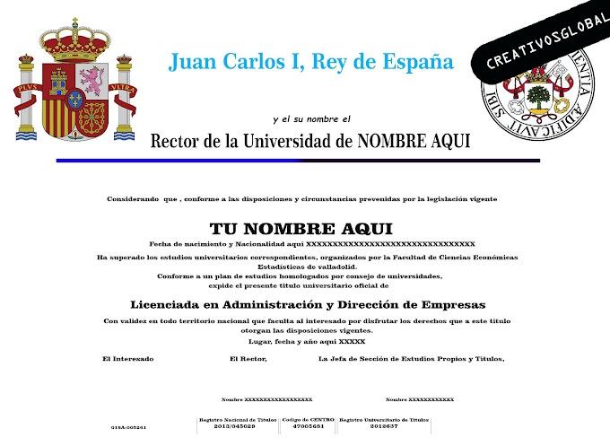 Descarga diploma graduacion española prediseñadas 5 unidades